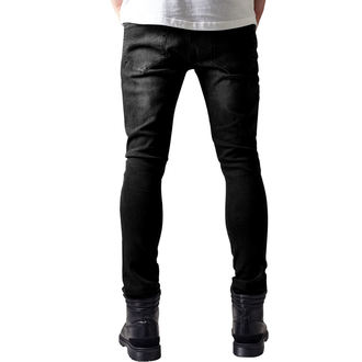 men's jeans URBAN CLASSICS - Slim Fit Biker Jeans - TB1436- black