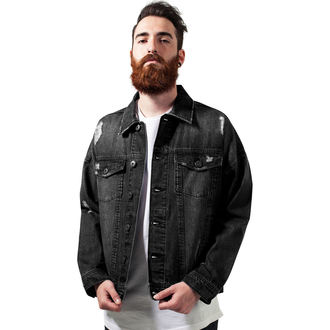 spring/fall jacket - Ripped Denim - URBAN CLASSICS, URBAN CLASSICS