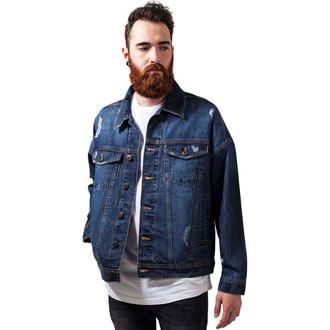 spring/fall jacket - Ripped Denim - URBAN CLASSICS, URBAN CLASSICS