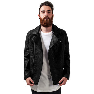 spring/fall jacket - Leather lmitation Biker - URBAN CLASSICS, URBAN CLASSICS