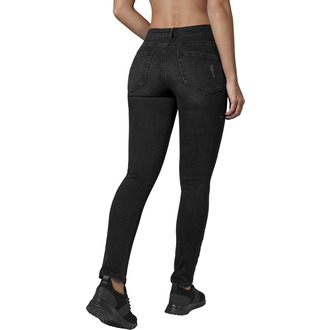 Women's trousers URBAN CLASSICS - High Waist - black washed, URBAN CLASSICS
