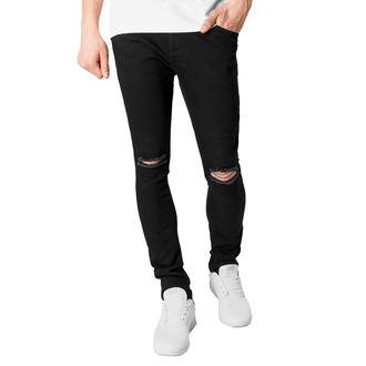 Men's trousers URBAN CLASSICS - Slim Fit Knee Cut Denim - TB1652_black