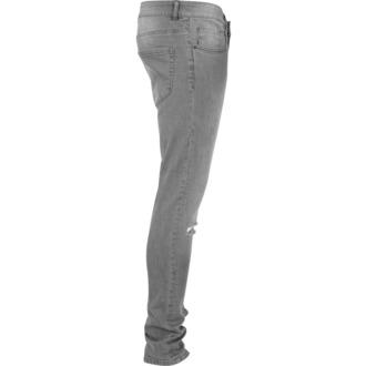 Men's trousers URBAN CLASSICS - Slim Fit Knee Cut Denim - TB1652_grey