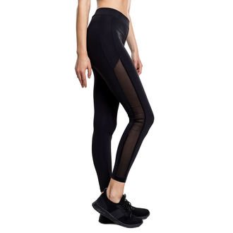 women´s trousers (leggings) URBAN CLASSICS - Tech Mesh Stripe - TB1736-black