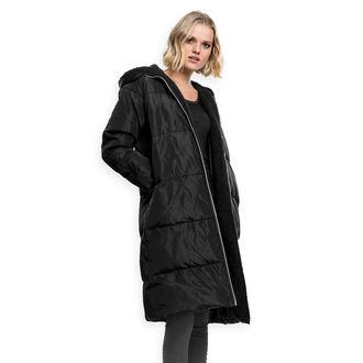Women's coat URBAN CLASSICS - Puffer - black / black, URBAN CLASSICS