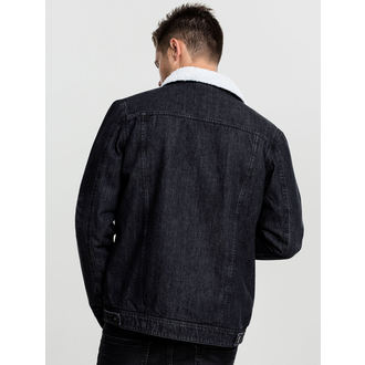 winter jacket - Sherpa Denim - URBAN CLASSICS, URBAN CLASSICS