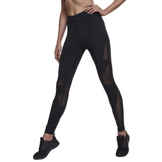 Women's pants (leggings)  URBAN CLASSICS - Triangle Tech Mesh - blk / blk, URBAN CLASSICS