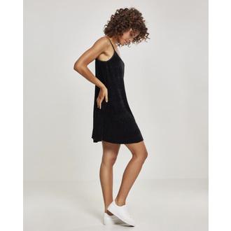 Women's dress URBAN CLASSICS - Velvet Slip - TB2352-black