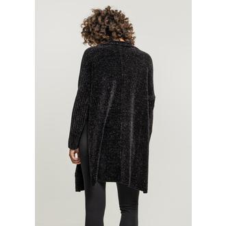 Women's cardigan URBAN CLASSICS - Chenille - black, URBAN CLASSICS