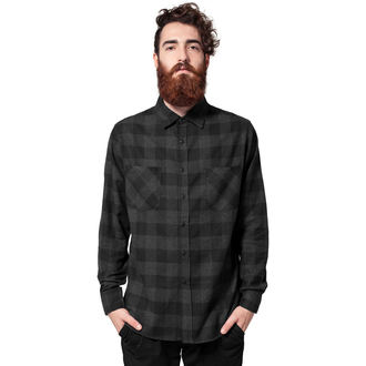 shirt men URBAN CLASSICS - Checked Flanell, URBAN CLASSICS