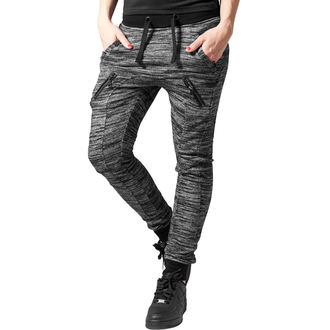 Women's pants (sweatpants) URBAN CLASSICS - Fitted Melange - blk / gry, URBAN CLASSICS