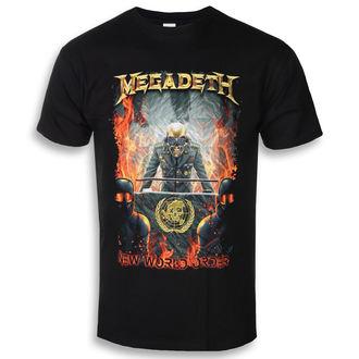 Metal T-Shirt men's Megadeth - NEW WORLD ORDER - PLASTIC HEAD - RTMGD044