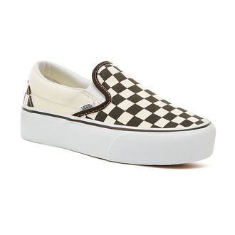 low sneakers women's - UA CLASSIC SLIP-ON PLATFORM Blk WhtCh - VANS