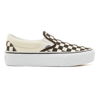 low sneakers women's - UA CLASSIC SLIP-ON PLATFORM Blk WhtCh - VANS, VANS