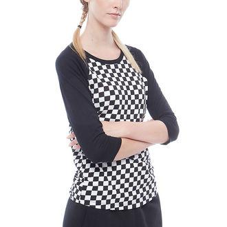 t-shirt street women's - WM CHECKS RAGLAN - VANS, VANS
