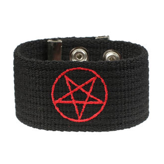 Bracelet Pentagram, BLACK & METAL