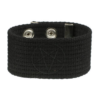 Bracelet Pentragram, BLACK & METAL
