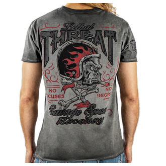t-shirt hardcore men's - VINTAGE VELOCITY SAVAGE SPEED - LETHAL THREAT - VV40126