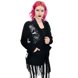 Sweater Women's (cardigan) TOO FAST - WITCH BITCH - CRYSTAL BALL & MOONS, TOO FAST