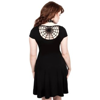 Women's dress KILLSTAR - WIDOWS SKATER - BLACK, KILLSTAR