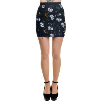 Skirt Women's TOO FAST - MERCY - HAL LOWEEN CAT & PUMPKINS, TOO FAST