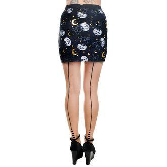 Skirt Women's TOO FAST - MERCY - HAL LOWEEN CAT & PUMPKINS, TOO FAST