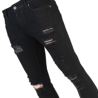 Men's trousers (jeans) WORNSTAR - Rampager Shredded - Black - WSP-RPKSH