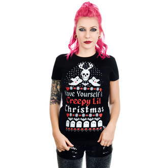 T-shirt Women's TOO FAST - HAVE YOURSELF A CREEPY LIL CHRISTMAS BABYDOLL - WTBD-T-CRELIL