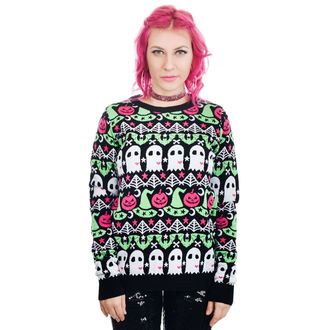 Sweater Women's TOO FAST - CULT HOCUS POCUS BATS - GHOSTS &0 PUMPKINS, TOO FAST