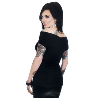 t-shirt gothic and punk women's - FOXY OFF THE SHOULDER - TOO FAST, TOO FAST