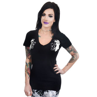 t-shirt gothic and punk women's - HAUNTED HOUSE & GHOSTS - TOO FAST, TOO FAST