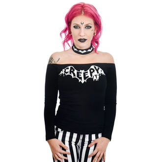 t-shirt gothic and punk women's - TABITHA CHOKER - TOO FAST, TOO FAST