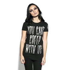 t-shirt women's - You Can't Creep With Us - BLACK CRAFT, BLACK CRAFT
