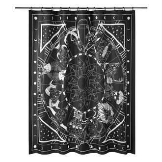 Shower curtain KILLSTAR - Zodiac - BLACK - KSRA000444