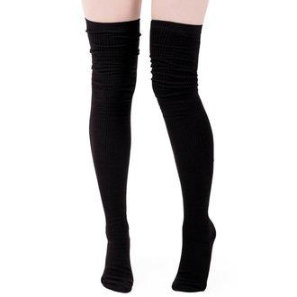 Over-the-knee socks KILLSTAR - Zoey - BLACK, KILLSTAR