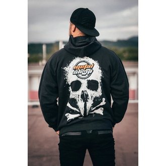 hoodie men's - Black - METALSHOP - MS011