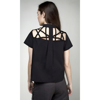 shirt women's DISTURBIA - Abstract Crop - Black, DISTURBIA