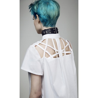shirt women's DISTURBIA - Abstract Crop - White, DISTURBIA