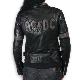 leather jacket women's AC-DC - MEGYN - NNM