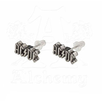 Earrings AC / DC - Logo - ALCHEMY GOTHIC, ALCHEMY GOTHIC, AC-DC