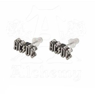 Earrings AC / DC - Logo - ALCHEMY GOTHIC, ALCHEMY GOTHIC, AC-DC