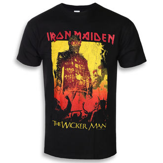 t-shirt metal men's Iron Maiden - The Wicker Man Fire - ROCK OFF, ROCK OFF, Iron Maiden