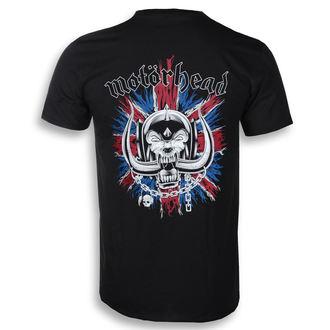 t-shirt metal men's Motörhead - British Warpig & Logo - ROCK OFF - MHEADTEE52MB