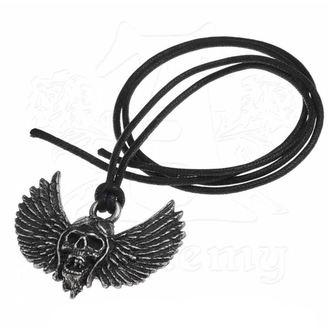 Pendant Necklace Airbourne - Skull / Wings - ALCHEMY GOTHIC, ALCHEMY GOTHIC, Airbourne
