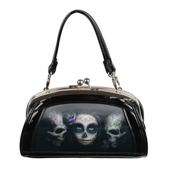 Handbag (bag) ANNE STOKES - Day Of The Dead - Black, ANNE STOKES
