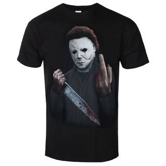film t-shirt men's Halloween - MIDDLE FINGER - PLASTIC HEAD - PH11722