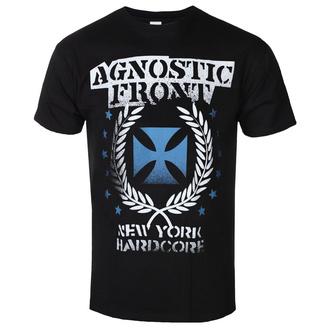 t-shirt metal men's Agnostic Front - BLUE IRON CROSS - PLASTIC HEAD - PH11518
