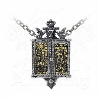 Collar Necklace ALCHEMY GOTHIC - Balkan Triptych Icon Locket, ALCHEMY GOTHIC