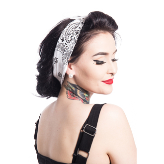 Kerchief Rockabella - BAND ONE - WHITE, ROCKABELLA