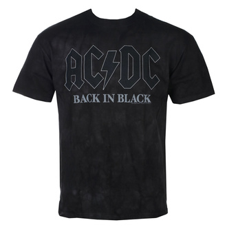 t-shirt metal men's AC-DC - Back in Black - LIQUID BLUE - 11862